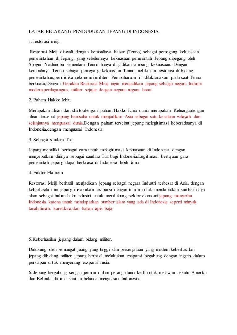 Latar Belakang Jepang Ingin Menguasai Indonesia Adalah : latar, belakang, jepang, ingin, menguasai, indonesia, adalah, Latar, Belakang, Pendudukan, Jepang, Indonesia