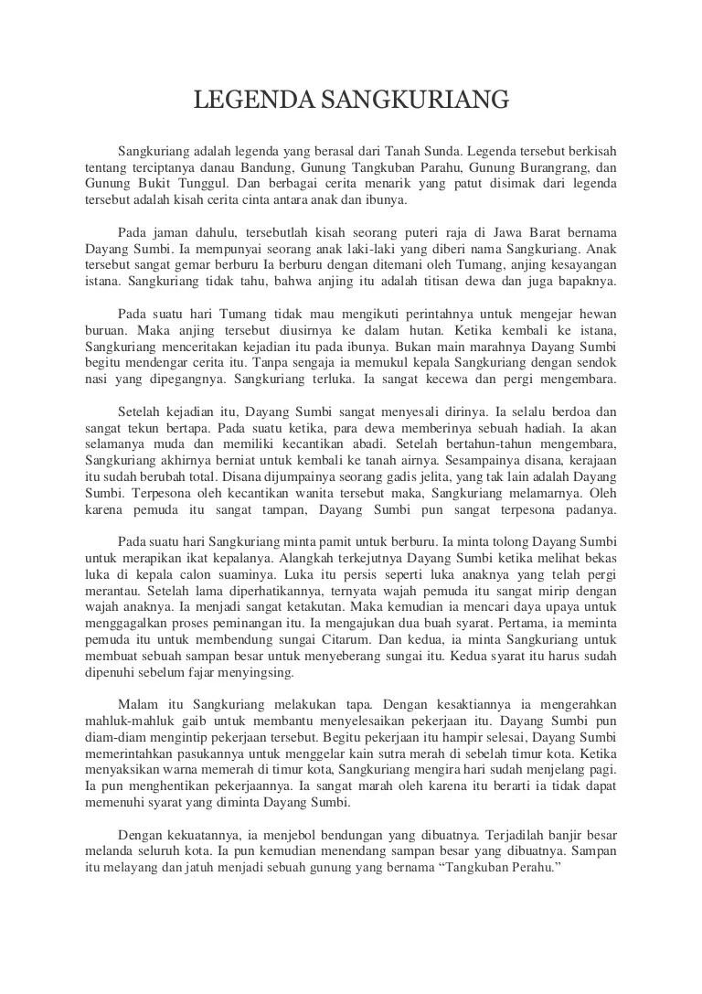 Cerita Singkat Sangkuriang : cerita, singkat, sangkuriang, Contoh, Narrative, Paling, Singkat, Tangkuban, Perahu, Kaxak, Cute766