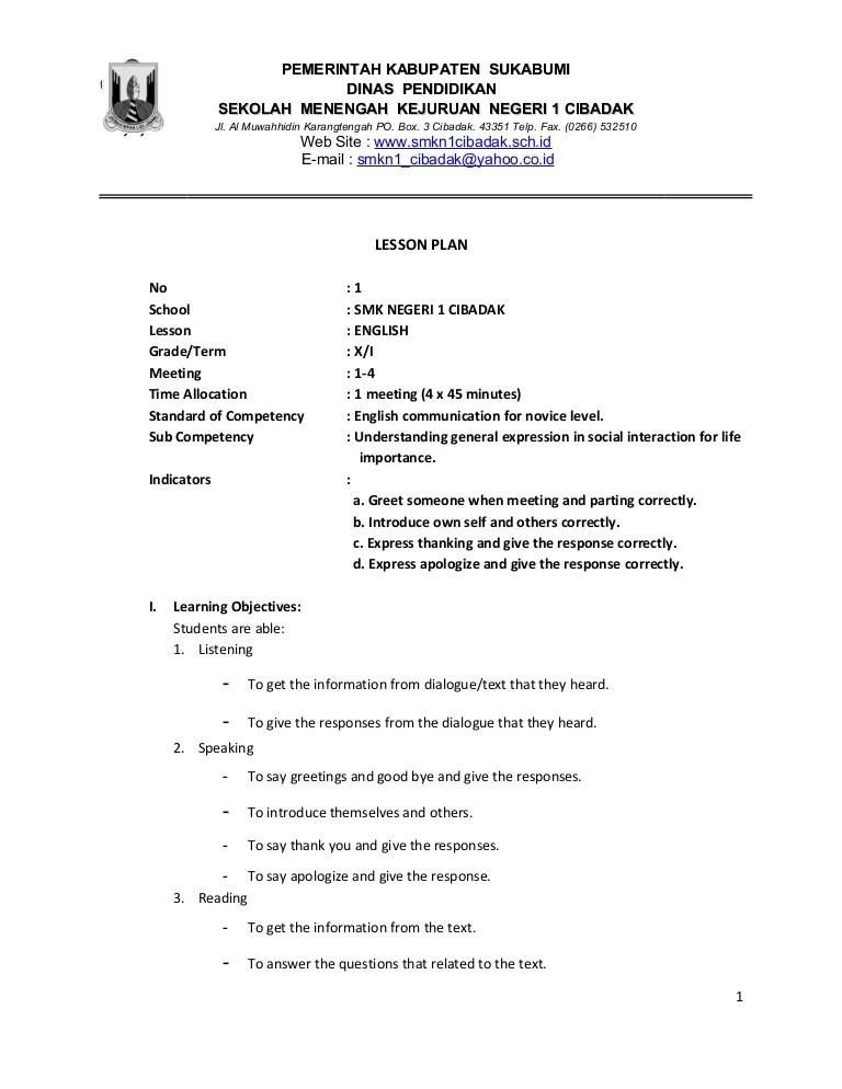Sekolah Menengah Kejuruan In English : sekolah, menengah, kejuruan, english, Lesson
