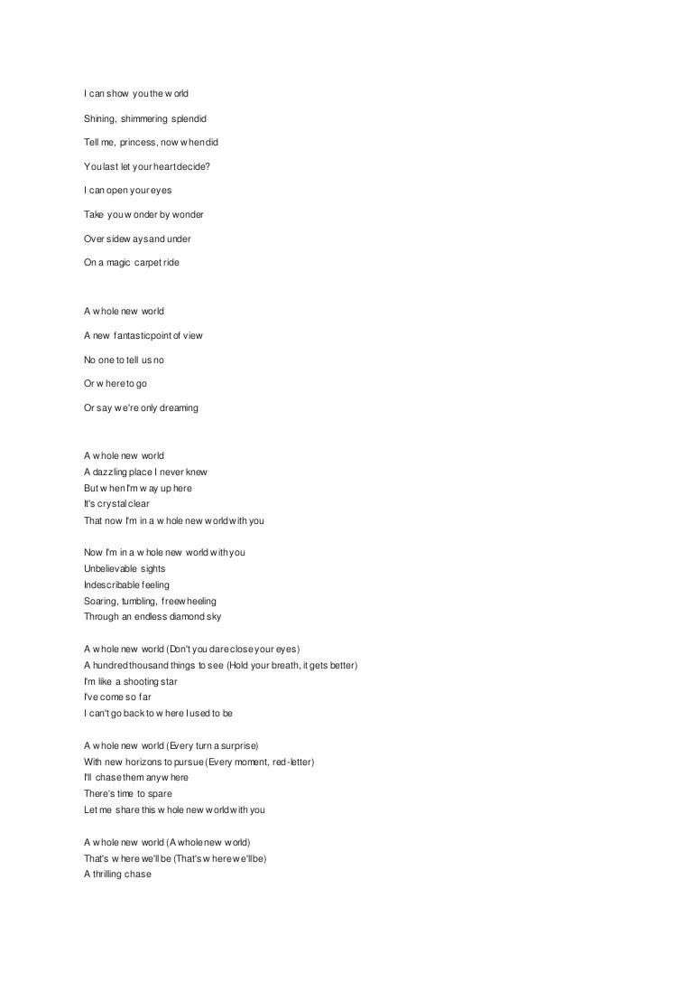 Terjemahan Lagu A Whole New World : terjemahan, whole, world, Lirik, Whole, World