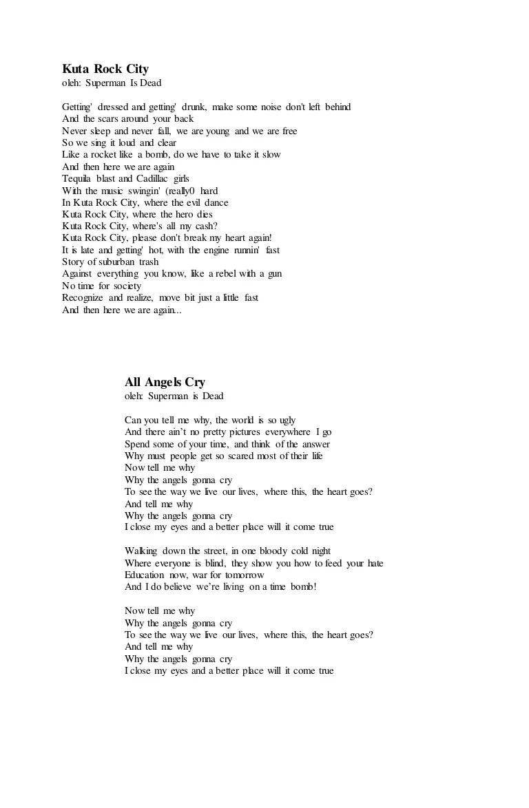 Muka Tebal Lyrics by Superman Is Dead