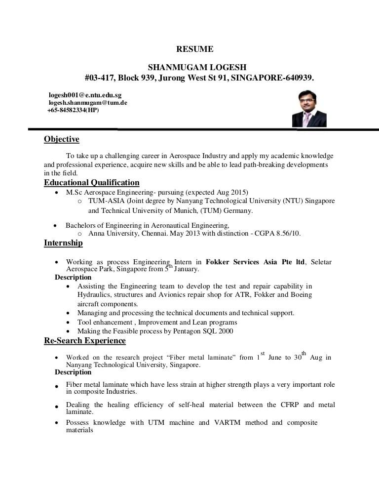 Aeronautical Engineer Cover Letter Sample