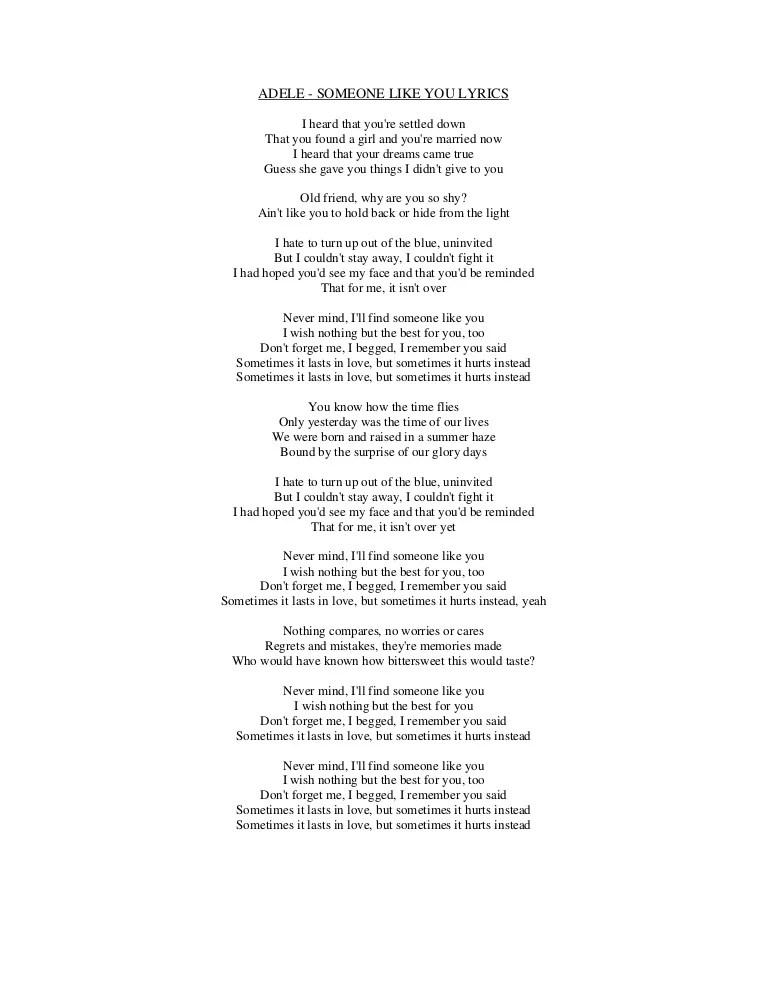 I Believe Adele Lyrics : believe, adele, lyrics, Lyrics