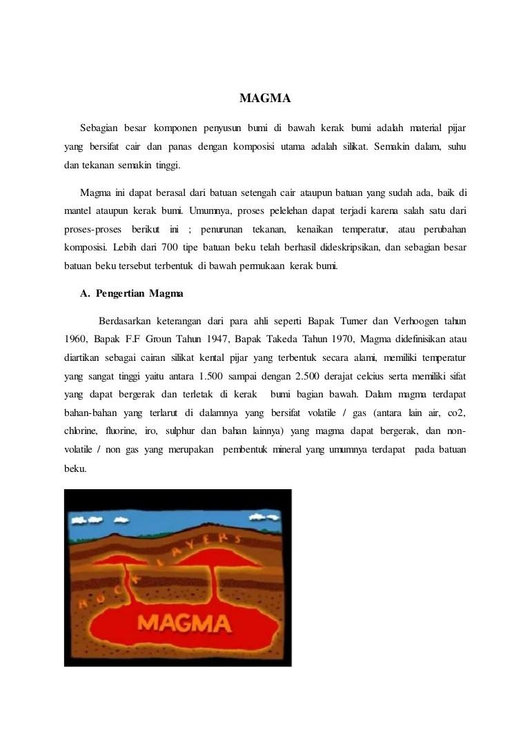 Bentuk Ekstrusi Magma : bentuk, ekstrusi, magma, Magma