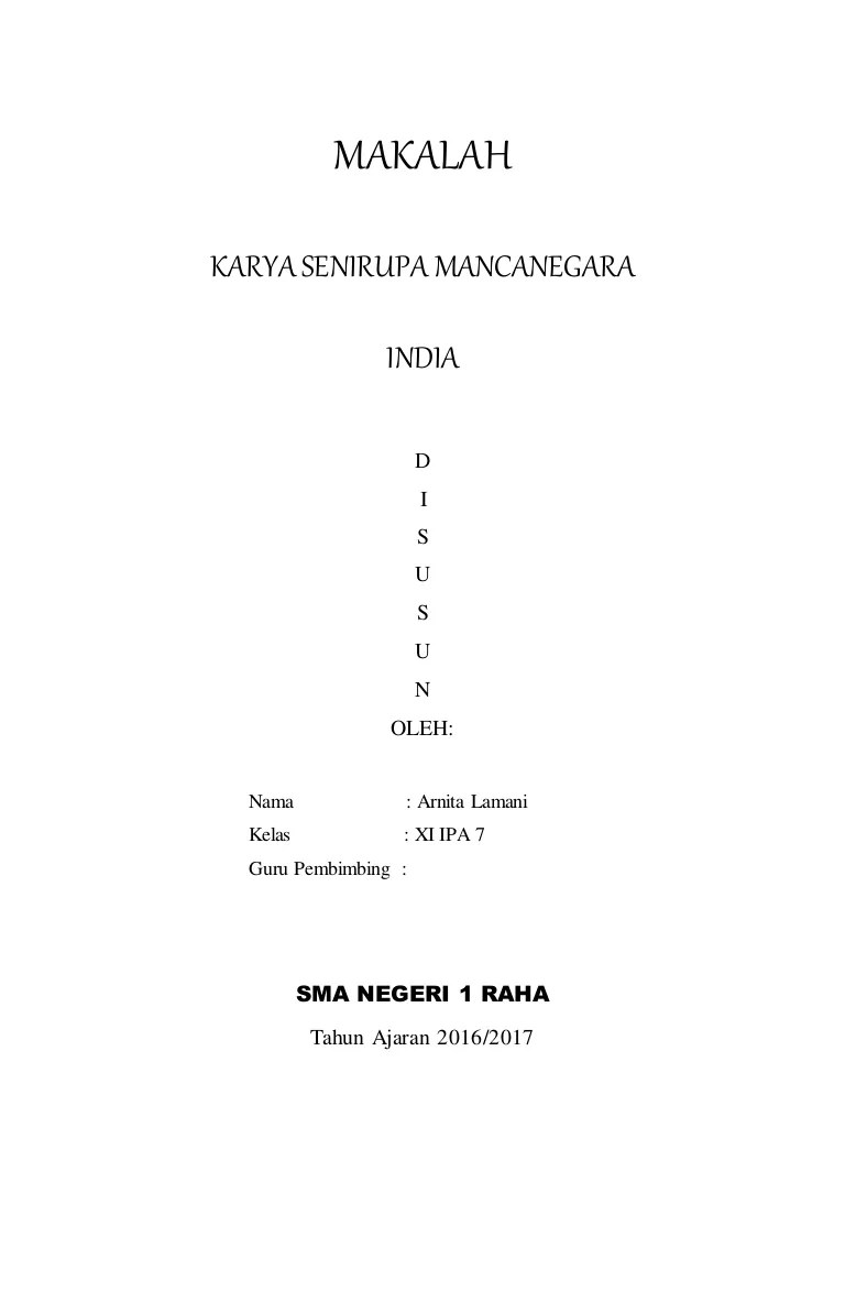 Makalah Seni Rupa Mancanegara : makalah, mancanegara, Makalah, India