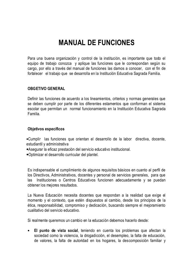 Manual de funciones isafamilia 2010