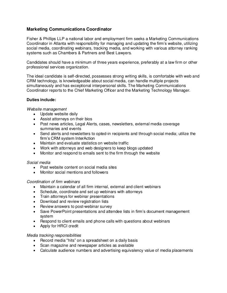 marketing officer job description