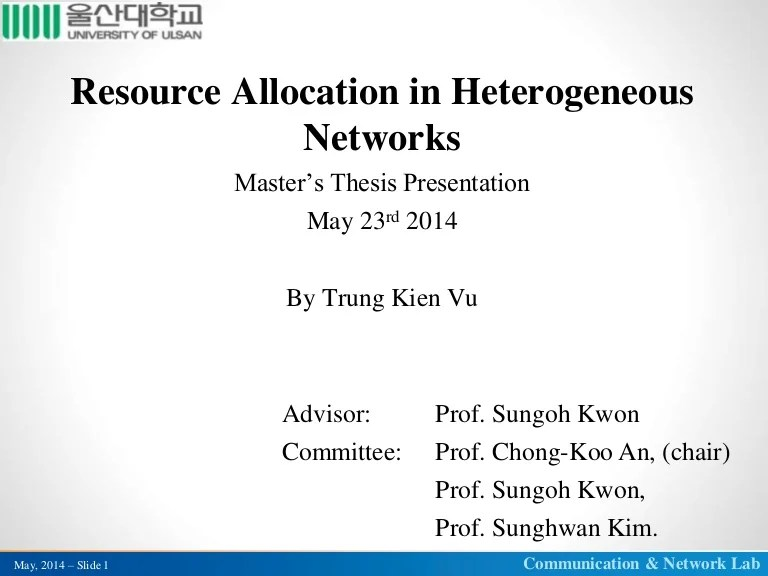Resource Allocation In Heterogeneous Networks