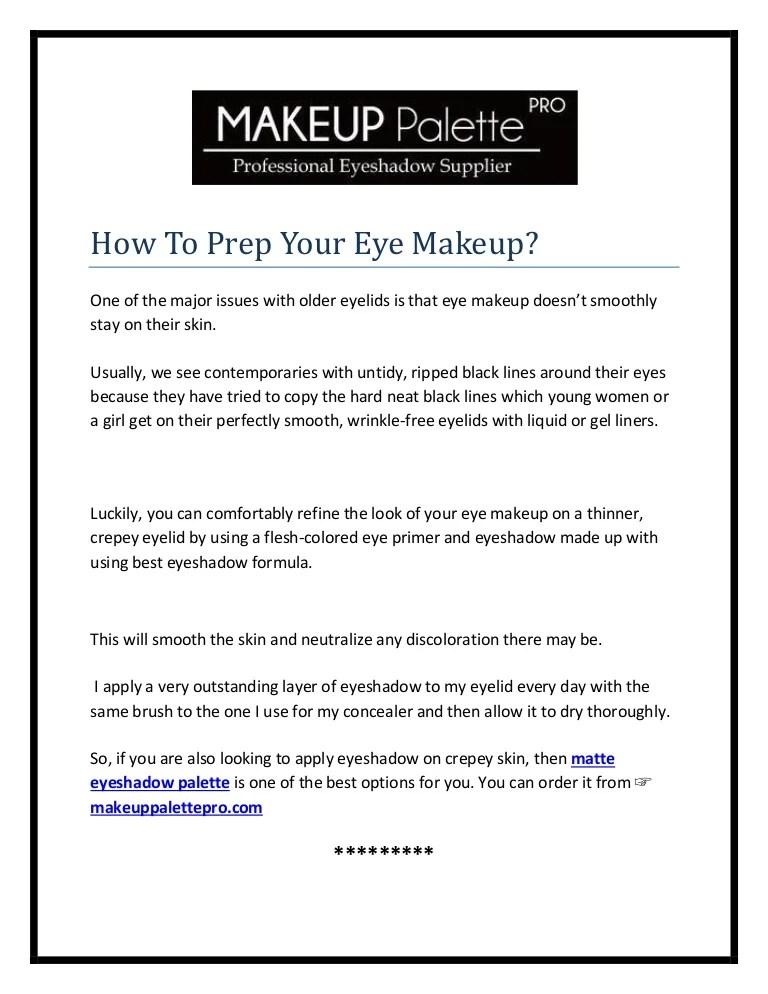 Matte Eyeshadow Palette By Makeup