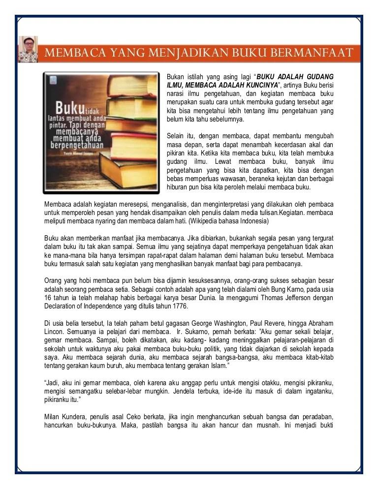 Manfaat Buku Digital : manfaat, digital, Membaca, Menjadikan, Bermanfaat