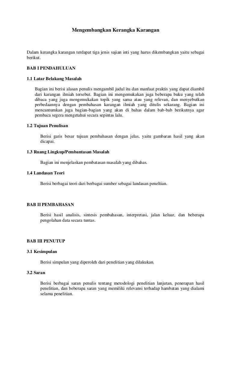 Kerangka Karya Tulis Ilmiah Yang Benar : kerangka, karya, tulis, ilmiah, benar, Contoh, Ragangan, Karya, Ilmiah, IlmuSosial.id