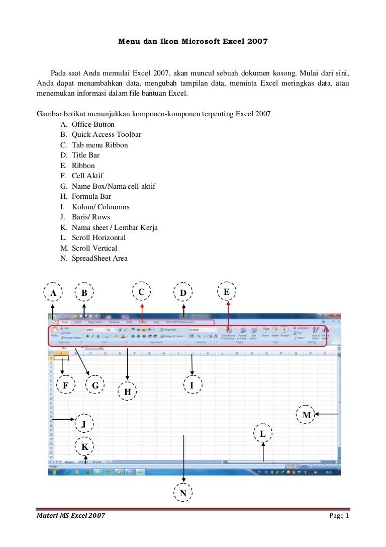 Fungsi Menu Dan Ikon Pada Microsoft Excel 2007 Beserta Gambarnya : fungsi, microsoft, excel, beserta, gambarnya, Microsoft, Excel