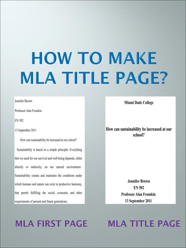 Mla Format With Cover Page Hospi Noiseworks Co