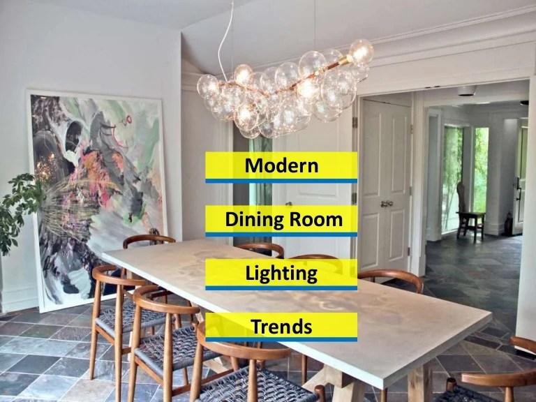 15 modern dining room lighting trends