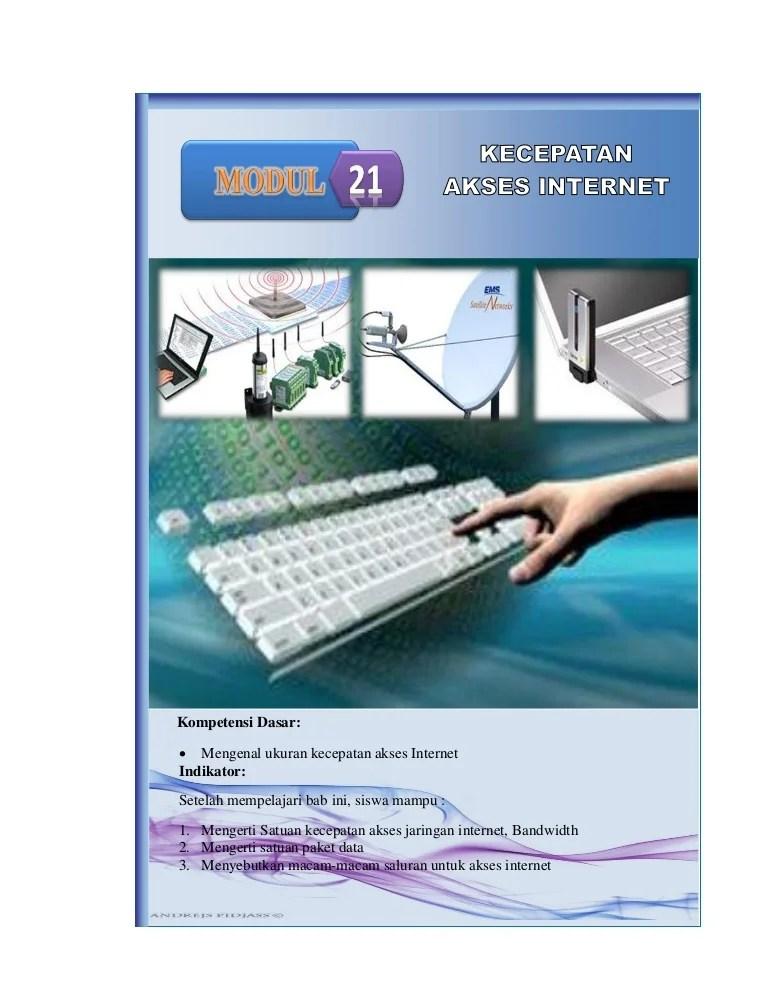 Pengertian Satuan Kecepatan Akses Internet : pengertian, satuan, kecepatan, akses, internet, Modul, Kecepatan, Akses, Internet