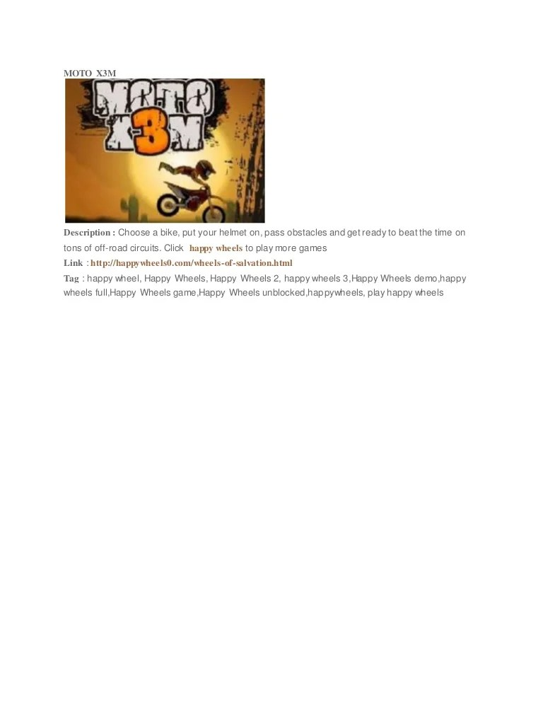 Moto X3m 3 Unblocked : unblocked