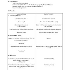 Diagramming Compound Sentences Worksheets 1999 Gmc Sierra Ac Wiring Diagram Detailed Lesson Plan In English 2 (verbs)