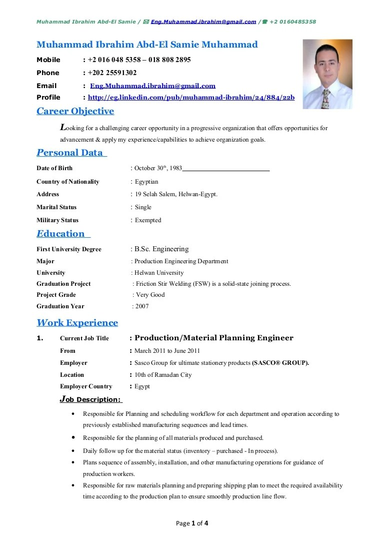 Resume With Computer Skills