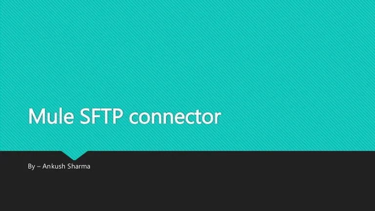 Mule Sftp Connector