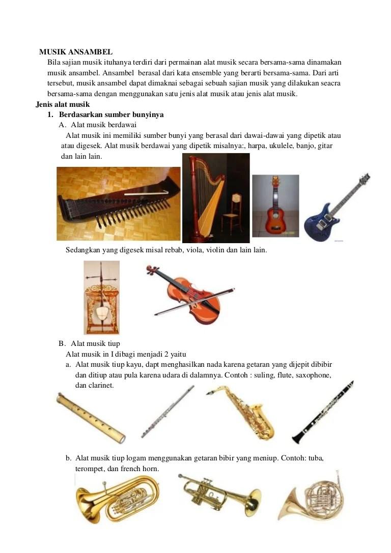 Musik Ansambel : Pengertian, Fungsi, Ciri,Jenis dan