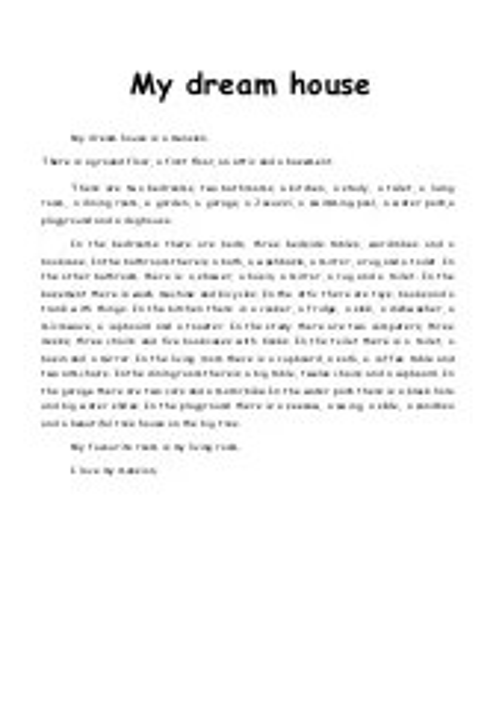 my home short essay