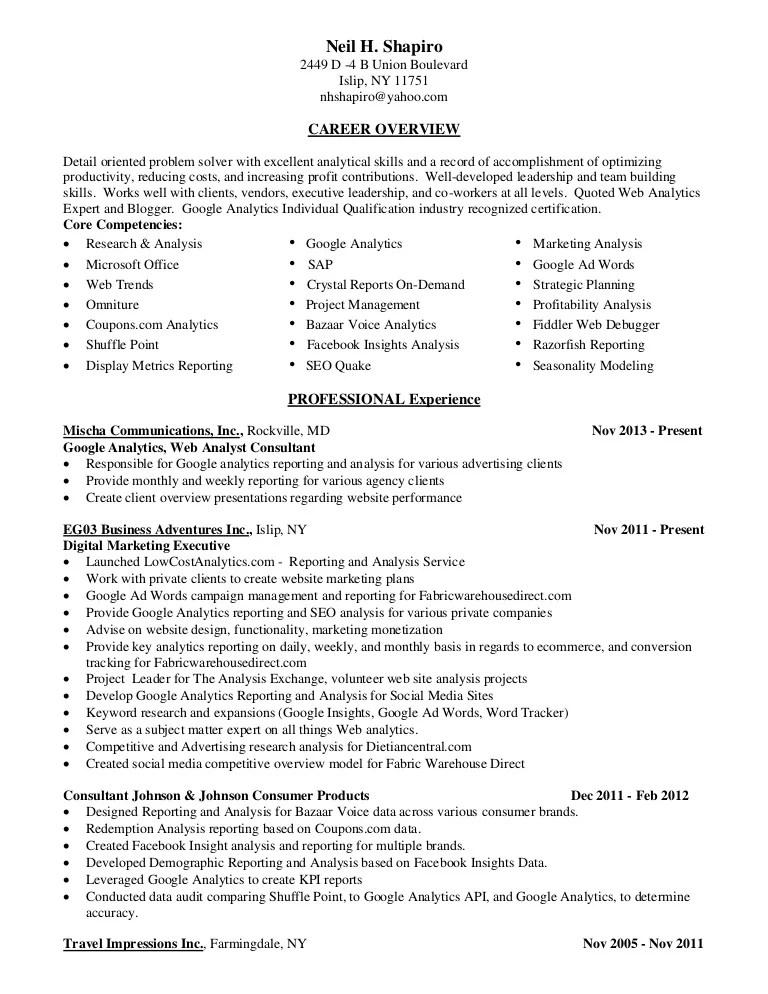 director of marketing resume