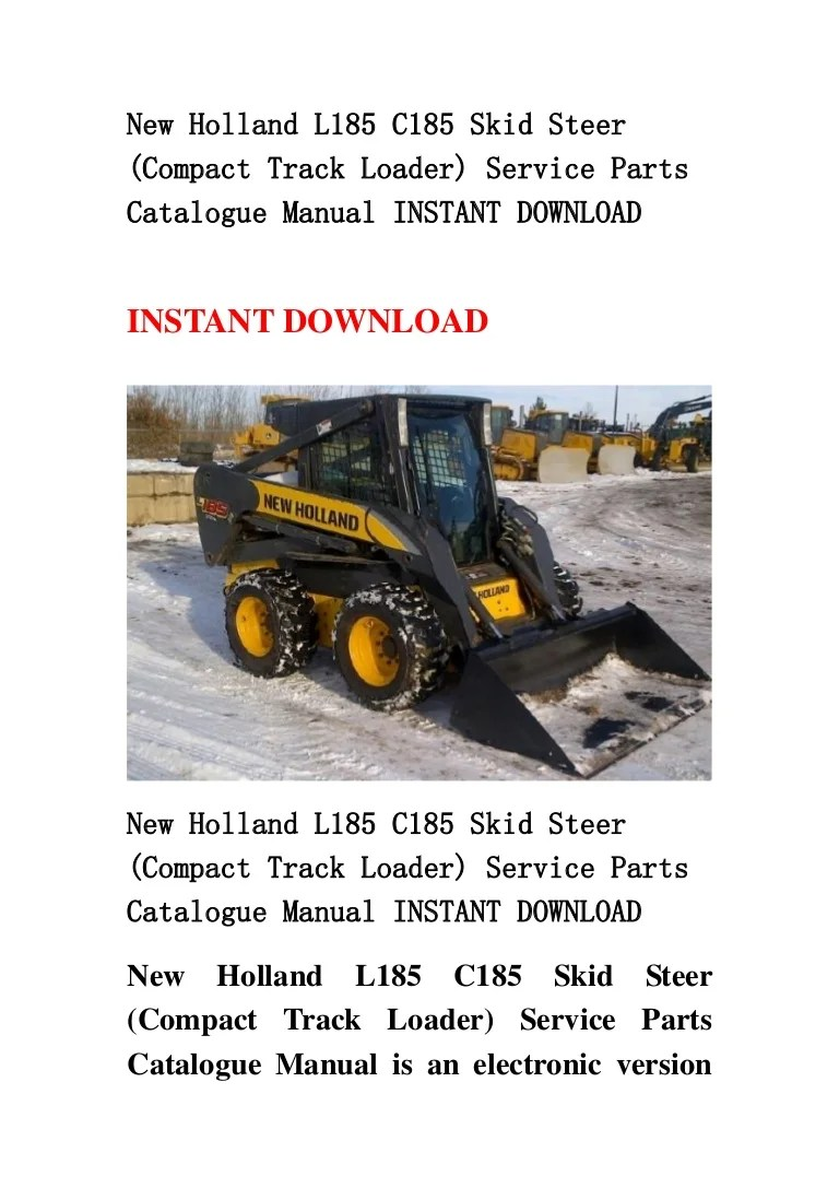 hight resolution of new holland l185 c185 skid steer compact track loader service parts catalogue manual instant download
