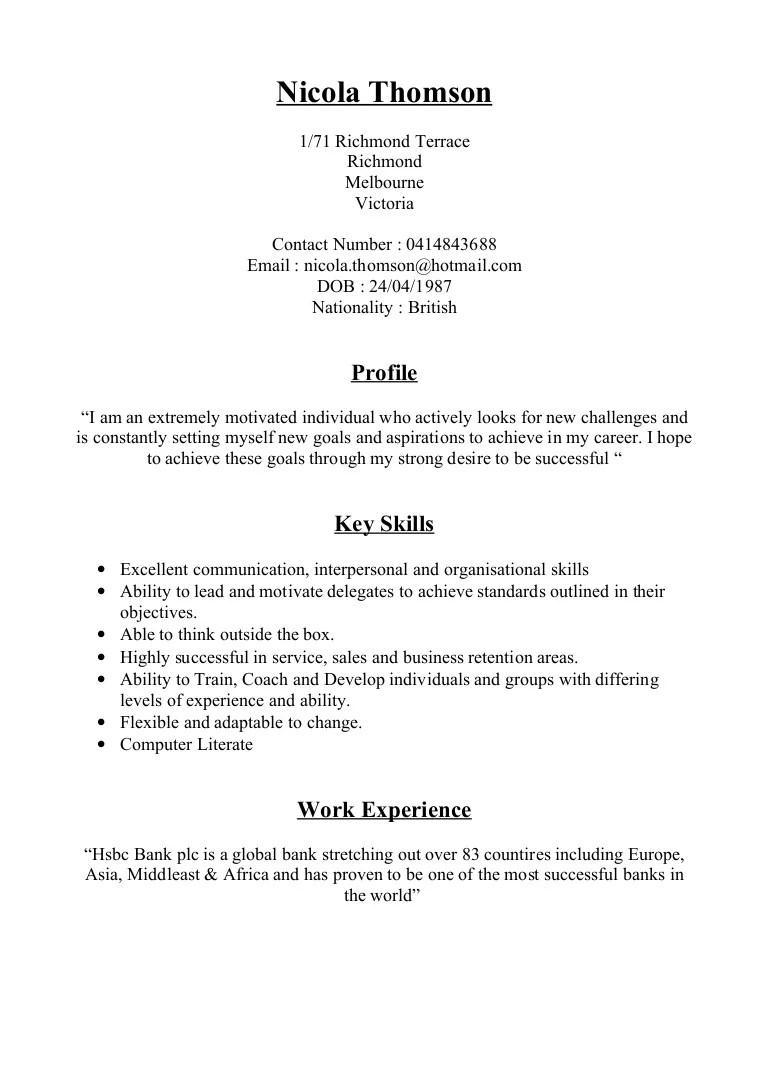 set up resume