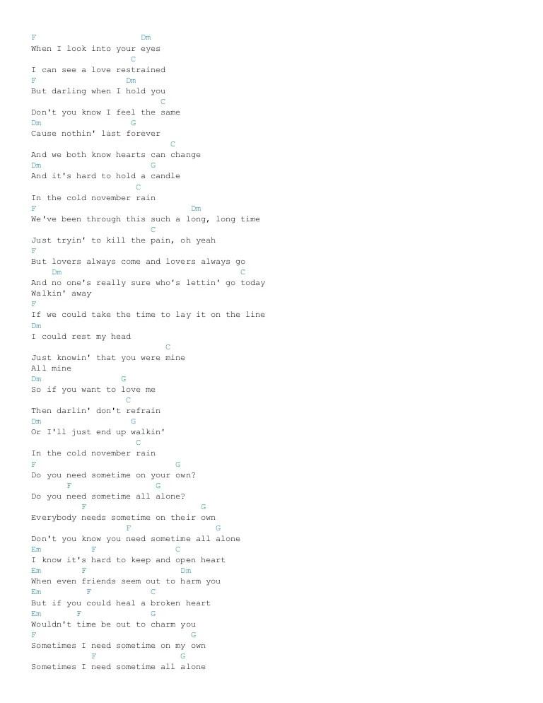Chord Lagu November Rain : chord, november, Chord, November, Dalam