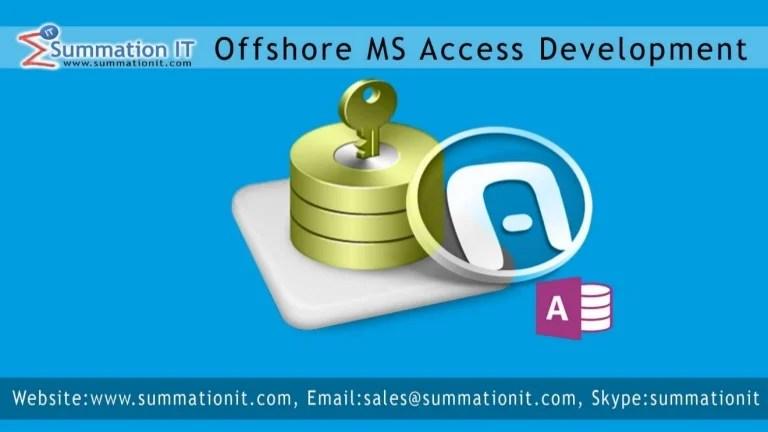 Offshoremsaccessdevelopment Microsoft Access Developer India