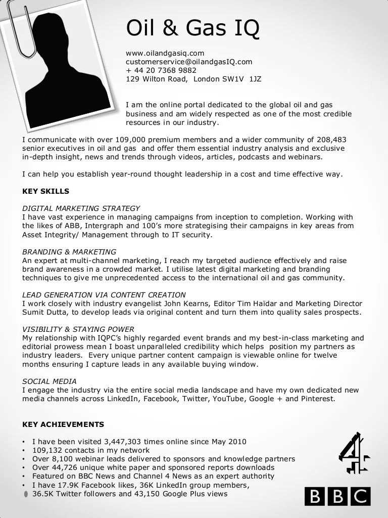 resume profile website