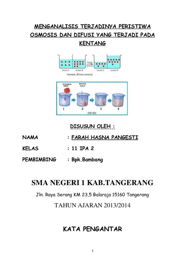 Osmosis Dan Difusi : osmosis, difusi, Osmosis, Difusi