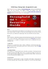 Osrs Stronghold Of Security : stronghold, security, Money, Making, Guide:, Stronghold, Security
