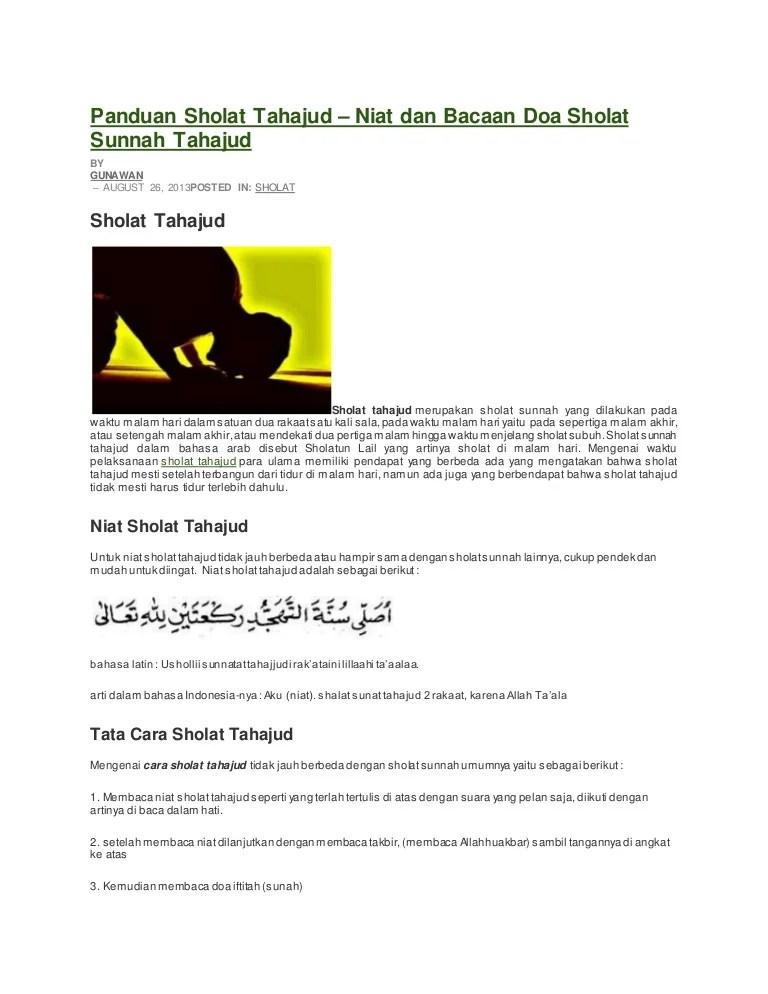 Gambar Sholat Tahajud : gambar, sholat, tahajud, Panduan, Sholat, Tahajud
