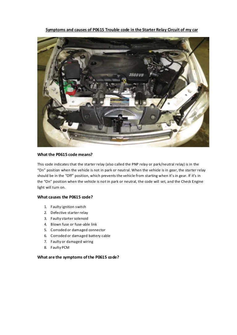 hight resolution of partsavatar canada symptoms and causes of p0615 trouble code in the starter relay circuit of my car