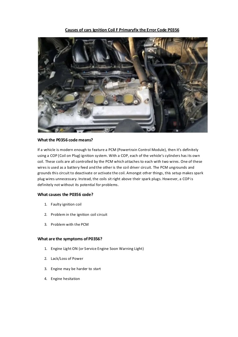 partsavatar toronto causes of cars ignition coil f primary fix the error code p0356 [ 768 x 1087 Pixel ]