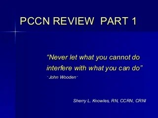 Pccn Review Part 1