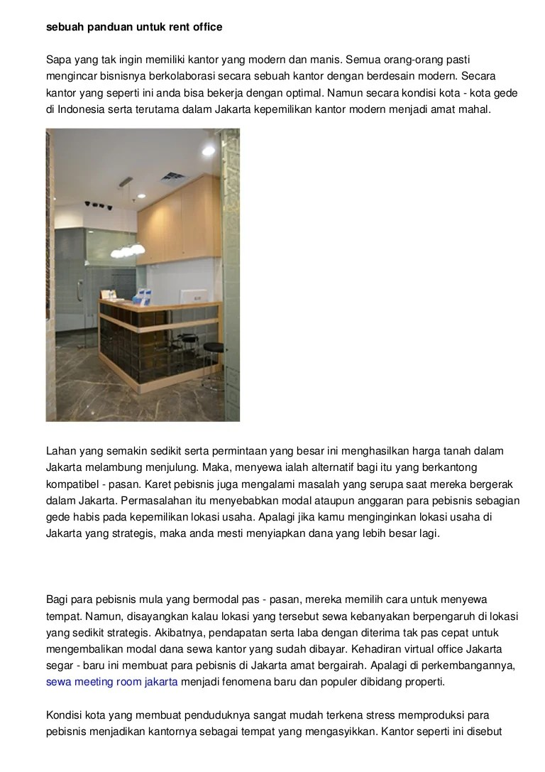 Pengertian Tempat Usaha Yang Strategis : pengertian, tempat, usaha, strategis, Menyeleksi, Office, Space, Jakarta, Terbaik