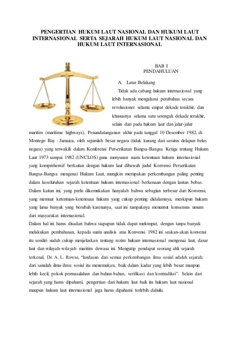 Isi Konvensi Hukum Laut Internasional Tahun 1982 : konvensi, hukum, internasional, tahun, Makalah, Hukum