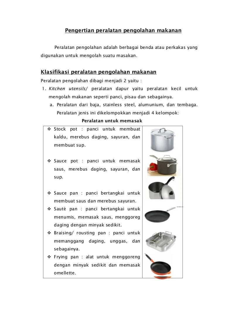 Macam Macam Peralatan Dapur Beserta Fungsinya : macam, peralatan, dapur, beserta, fungsinya, Peralatan, Makanan
