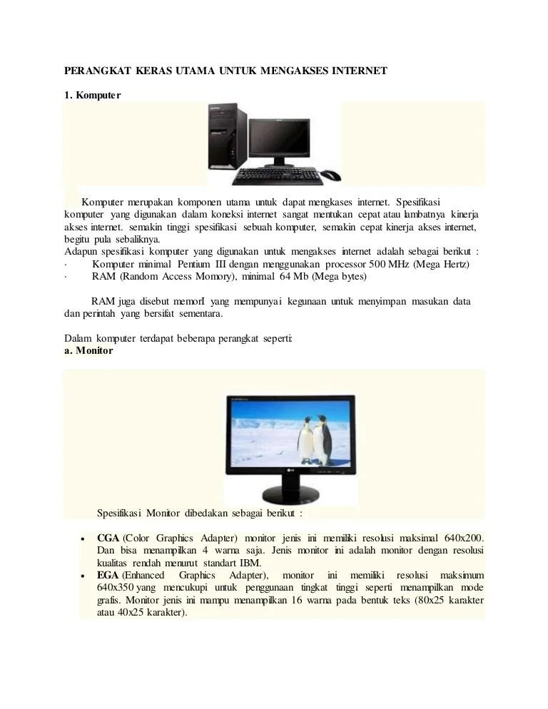 Perangkat Akses Internet : perangkat, akses, internet, Perangkat, Keras, Utama, Untuk, Mengakses, Internet