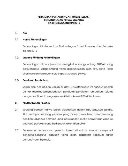 Peraturan Permainan Futsal Terbaru : peraturan, permainan, futsal, terbaru, Futsal, Tugasan-pengadil-powerpoint