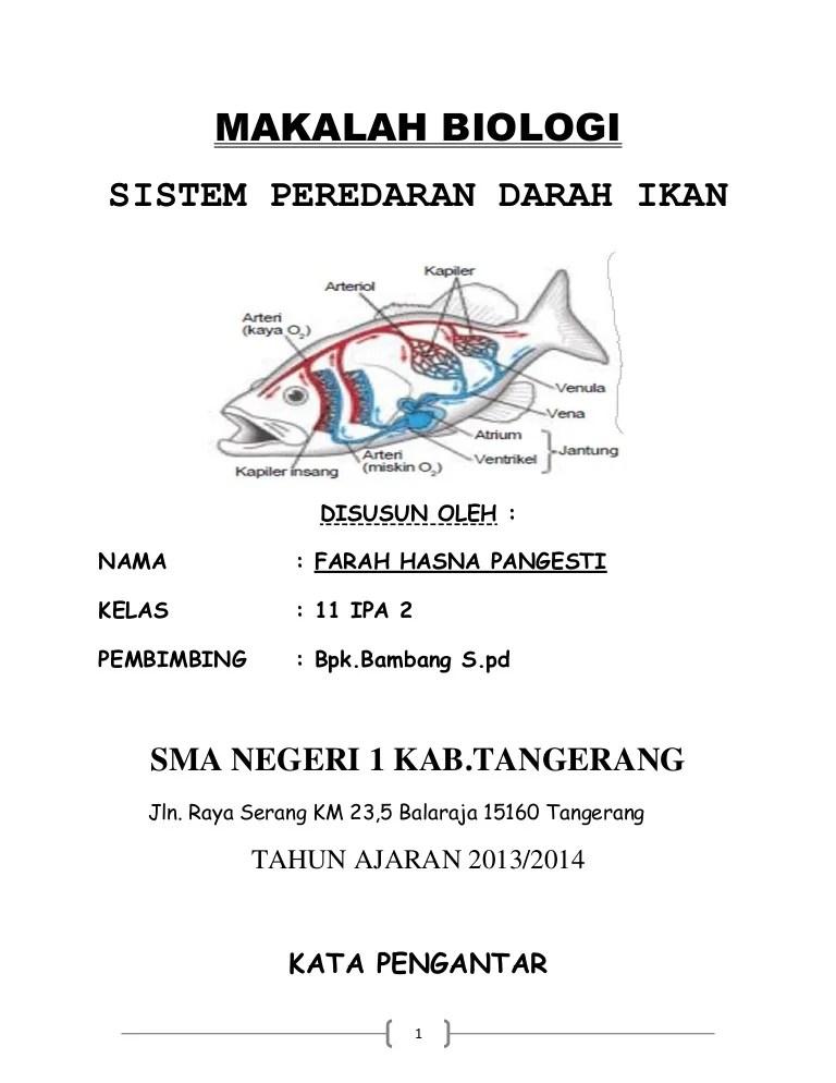 Fungsi Organ Tubuh Pada Ikan : fungsi, organ, tubuh, Peredaran, Darah