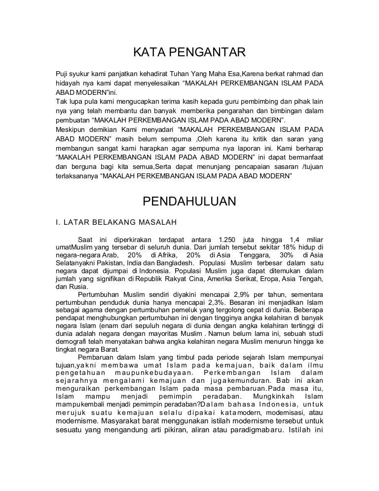 Pengaruh Gerakan Modernisasi Islam Terhadap Perkembangan Islam Di Indonesia : pengaruh, gerakan, modernisasi, islam, terhadap, perkembangan, indonesia, Perkembangan, Islam, Modern