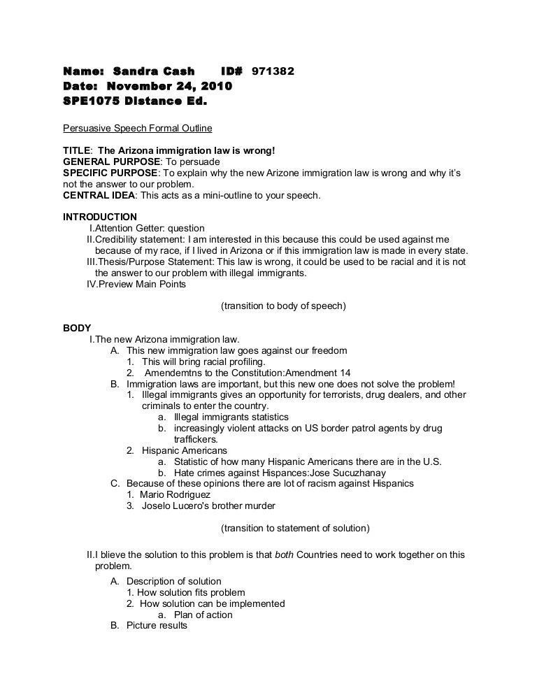 Illegal Immigration Essay Outline Hospi Noiseworks Co