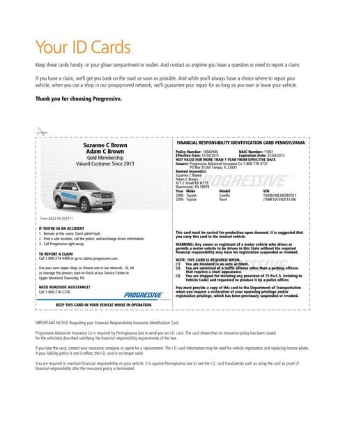 Pgr Insurance Idcard