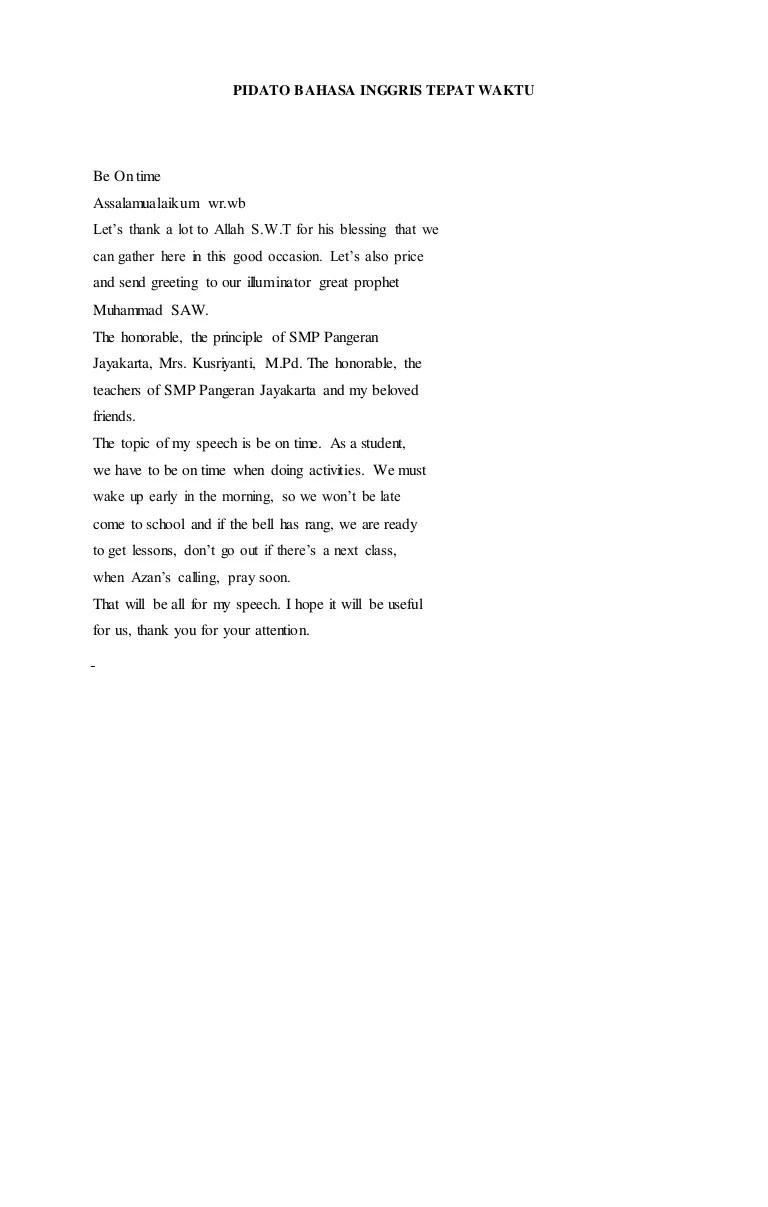 Pidato Bahasa Inggris Tentang Perpisahan : pidato, bahasa, inggris, tentang, perpisahan, Pidato, Bahasa, Inggris, Tepat, Waktu