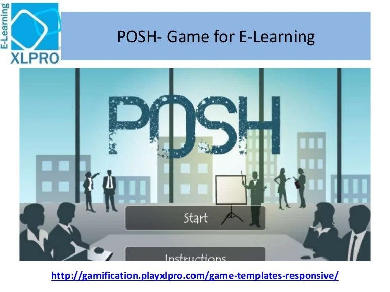 Posh E Learning Game Template