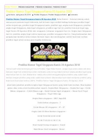 Data Togel Penang : togel, penang, Singapore, Prize, Jayatogel