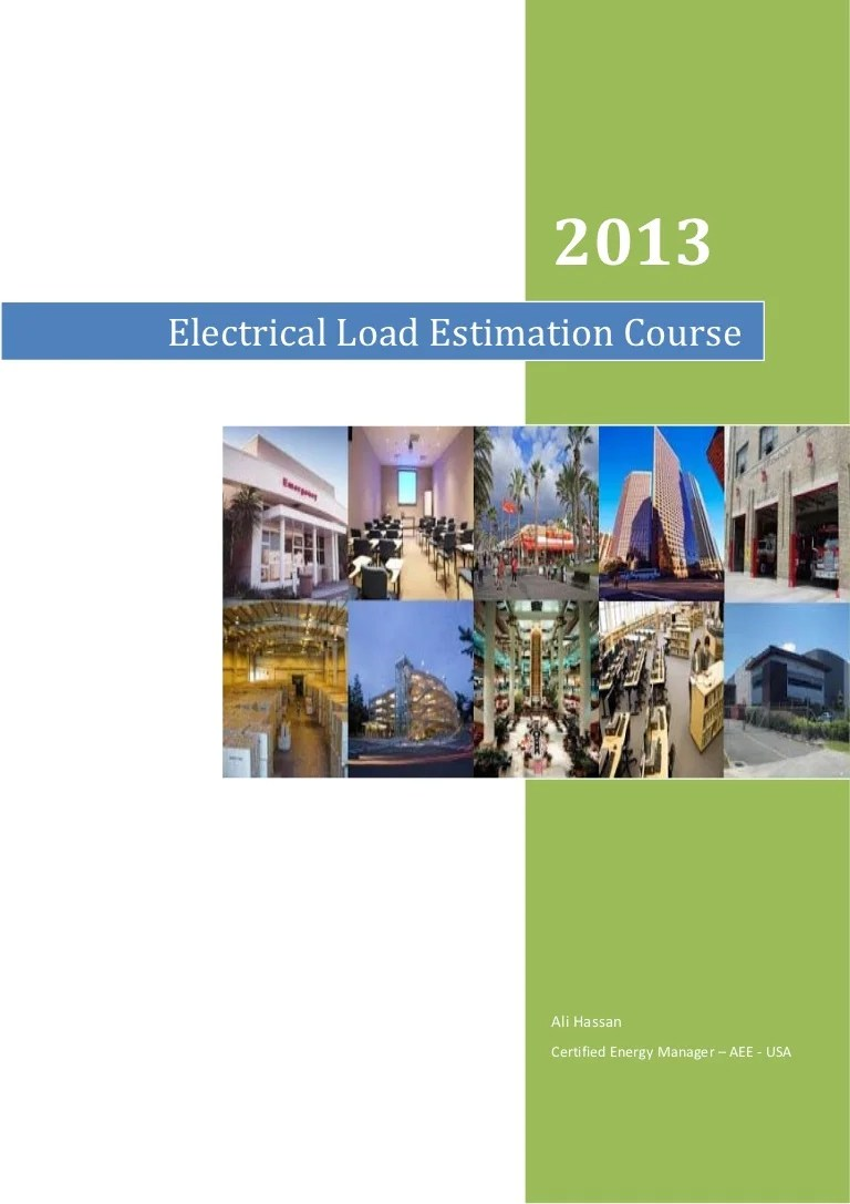 hight resolution of electrical plan estimate